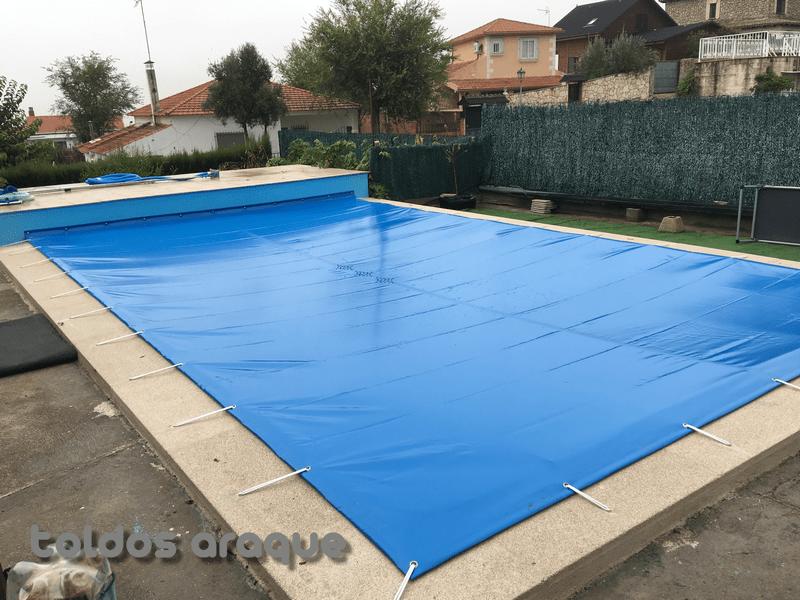 Empresa Toldos en Madrid toldos instaladores Araque Instalación de Lona de piscina en Borox - Toledo Trabajos realizados