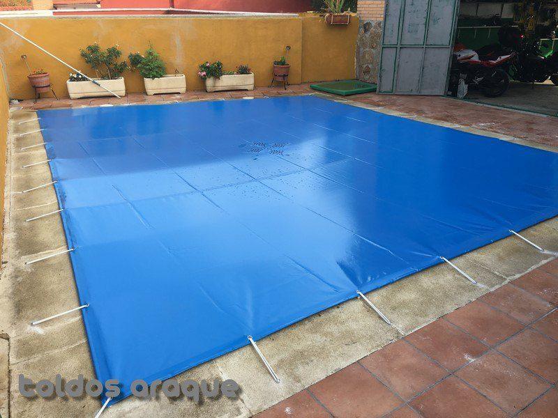Empresa Toldos en Madrid toldos instaladores Araque Instalación de Lona de piscina en Ciempozuelos - Madrid Trabajos realizados