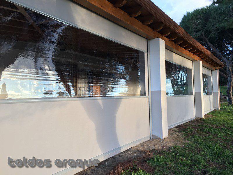 Empresa Toldos en Madrid  instaladores  Instalación de 5 toldos cortavientos (Madrid) Trabajos realizados