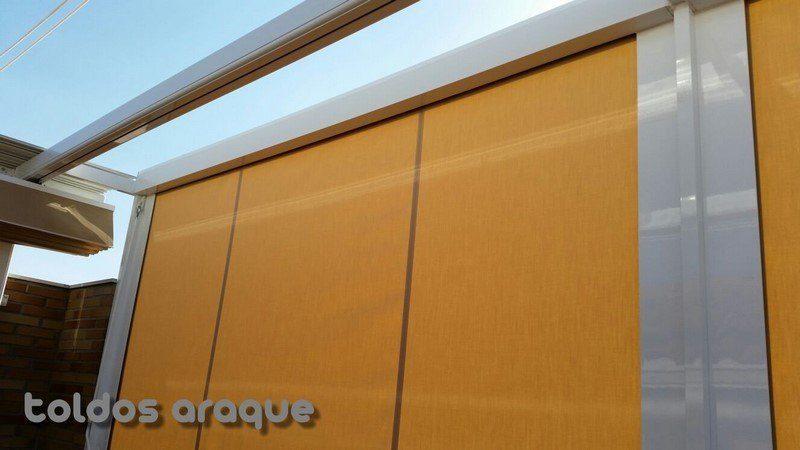 Empresa Toldos en Madrid toldos instaladores Araque Instalación de Pergola con toldos cortavientos laterales Trabajos realizados