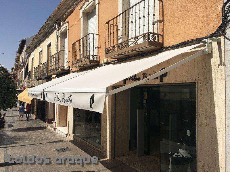 Empresa Toldos en Madrid  instaladores  Instalacion de 2 toldos extensibles en Alcazar de San Juan Trabajos realizados