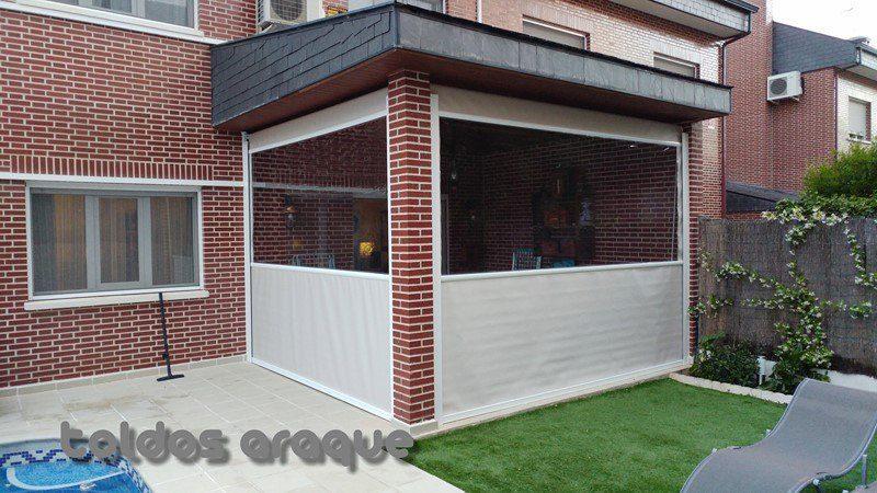 Empresa Toldos en Madrid toldos instaladores Araque Instalación de toldos cortavientos en Rivas Vaciamadrid - Madrid Trabajos realizados