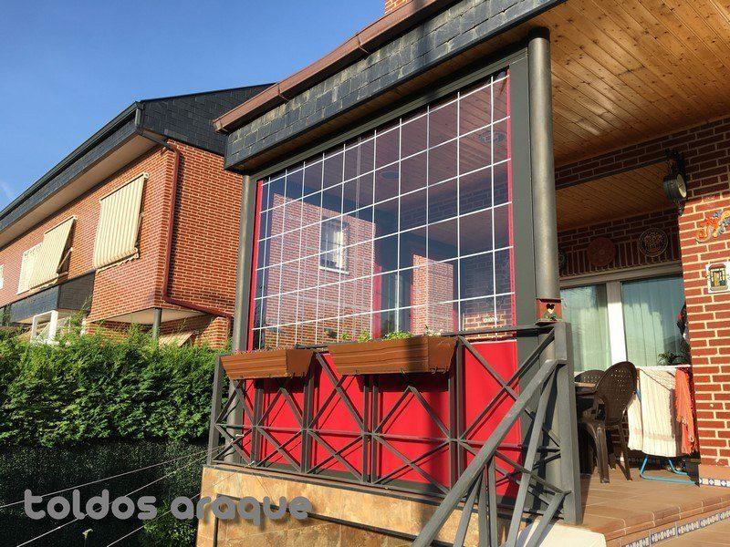Empresa Toldos en Madrid toldos instaladores Araque Instalación de 3 Toldos cortavientos de cofre en Rivas - Madrid Trabajos realizados