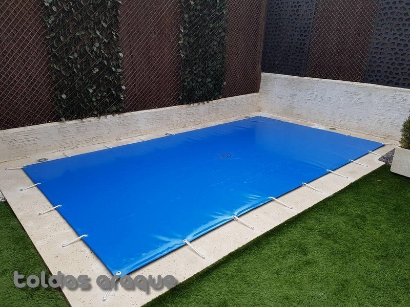 Empresa Toldos en Madrid toldos instaladores Araque Instalación de Lona de piscina en Valdemoro - Madrid Trabajos realizados