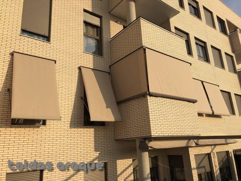 Empresa Toldos en Madrid toldos instaladores Araque Instalación de 6 toldos Cofre Portada en Pinto-Madrid Trabajos realizados
