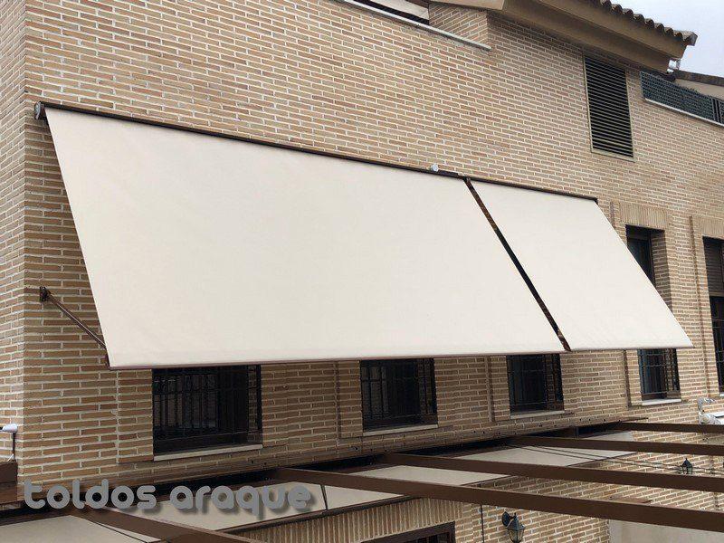 Empresa Toldos en Madrid toldos instaladores Araque Instalación de 2 toldos cofre portada motorizados en PInto - Madrid Trabajos realizados