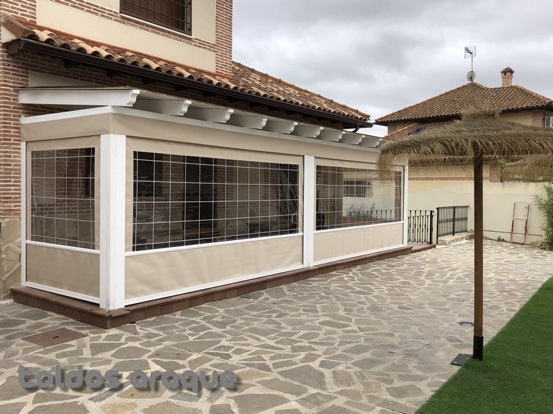 Empresa Toldos en Madrid  instaladores  Instalación de 4 Toldos Cortavientos en Seseña-Toledo Trabajos realizados