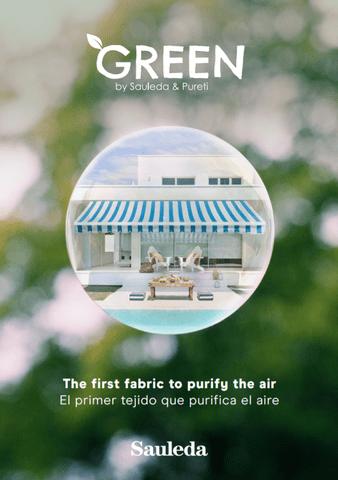Tejido Green Sauleda, el primer tejido que limpia y purifica el aire mediante fotocatálisis