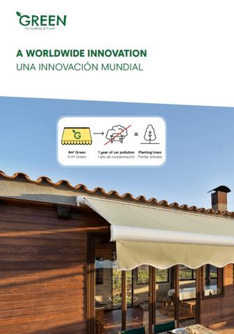 Empresa Toldos en Madrid  instaladores  Tejido Green Sauleda, el primer tejido que limpia y purifica el aire mediante fotocatálisis Noticias